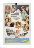 """Movie Posters:Comedy, Ghost In The Invisible Bikini (AIP, 1966). One Sheet (27"""" X 41""""). Offered here is a vintage, theater-used poster for this ho..."""