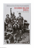 "Movie Posters:War, Hambuger Hill (Paramount, 1987). One Sheet (27"" X 41""). Offeredhere is a vintage, theater-used poster for this war drama di..."