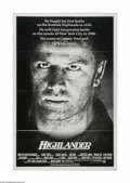 "Movie Posters:Fantasy, Highlander (20th Century Fox, 1986). One Sheet (27"" X 41""). Offeredhere is a vintage, theater-used poster for this action/f..."