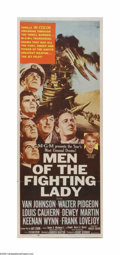 "Movie Posters:War, Men of the Fighting Lady (MGM, 1954). Insert (14"" X 36""). Offeredhere is a vintage, theater-used poster for this war drama ..."