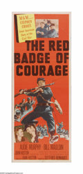 """Movie Posters:War, The Red Badge of Courage (MGM, 1951). Insert (14"""" X 36""""). Offeredhere is a vintage, theater-used poster for this war drama ..."""