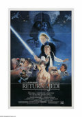 "Movie Posters:Science Fiction, Return of the Jedi (20th Century Fox, 1983). One Sheet (27"" X 41"").Offered here is a vintage, theater-used poster for this ..."