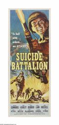 "Movie Posters:War, Suicide Battalion (American International, 1958). Insert (14"" X36""). Offered here is a vintage, theater-used poster for thi..."