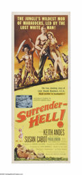 "Movie Posters:Adventure, Surrender-Hell! (Allied Artists, 1959). Insert (14"" X 36""). Offeredhere is a vintage, theater-used poster for this war dram..."