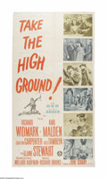 "Movie Posters:War, Take the High Ground (MGM, 1953). Three Sheet (41"" X 81""). Offeredhere is a vintage, theater-used poster for this war drama..."