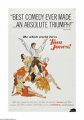 "Movie Posters:Academy Award Winner, Tom Jones (United Artists, 1963). One Sheet (27"" X 41""). Offeredhere is a vintage, theater-used poster for this adventure/c..."