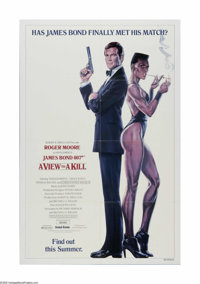 "A View to a Kill (MGM, 1985). One Sheet (27"" X 41""). Offered here is a vintage, theater-used poster for this J..."