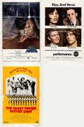 Memorabilia:Poster, Star Wars, The Rocky Horror Picture Show, andPerformance Movie Posters Group of 3 (Various Pu... (Total:3 Items)