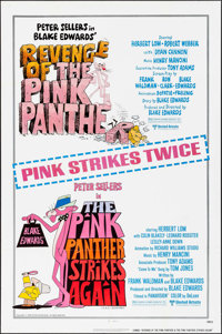"""Revenge of the Pink Panther/Pink Panther Strikes Again (United Artists, R-1979). One Sheet (27"""" X 41""""). Comedy..."""
