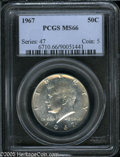Kennedy Half Dollars: , 1967 50C MS66 PCGS. ...