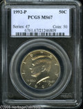 Kennedy Half Dollars: , 1992-P 50C MS67 PCGS. ...