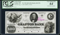 Obsoletes By State:Massachusetts, Grafton, MA- Grafton Bank $100 Aug. 1, 1854 Unlisted G18 Proof. ...