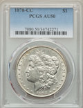 Morgan Dollars: , 1878-CC $1 AU50 PCGS. PCGS Population: (295/28454). NGC Census: (194/19541). CDN: $190 Whsle. Bid for NGC/PCGS AU50. Mintag...