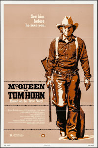 "Tom Horn (Warner Brothers, 1980). One Sheet (27"" X 41""), Mini Lobby Card Set of 8 (8"" X 10""), &a..."