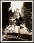 """Movie Posters:Miscellaneous, Fay Wray (Paramount, c.1930s). Autographed Photo (8"""" X 10""""). Miscellaneous.. ..."""