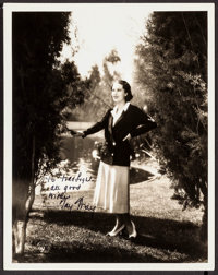 "Fay Wray (Paramount, c.1930s). Autographed Photo (8"" X 10""). Miscellaneous"