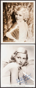 """Movie Posters:Miscellaneous, Mary Carlisle (MGM & Paramount, 1930s). Autographed Portrait Photos (2) (8"""" X 10""""). Miscellaneous.. ... (Total: 2 Items)"""