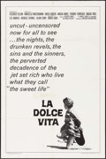 """Movie Posters:Foreign, La Dolce Vita (Cineriz, R-1966). One Sheet (27"""" X 41""""). Foreign.. ..."""