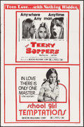 "Movie Posters:Sexploitation, The Teeny Boppers/School Girl Temptation & Other Lot (BeaconReleasing, R-1970s). One Sheets (2) (27"" X 41""). Sexploitation....(Total: 2 Items)"