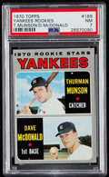 Baseball Cards:Singles (1970-Now), 1970 Topps Thurman Munson - Yankees Rookies #189 PSA NM 7....