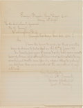 Military & Patriotic:Indian Wars, Captain Charles DeRudio: His Request for Leave, Endorsed by aPantheon of Army brass....