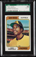 Baseball Cards:Singles (1970-Now), 1974 Topps Dave Winfield #456 (Wrong Back) SGC 92 NM/MT+ 8...