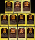 Autographs:Post Cards, George Kelly Signed Hall of Fame Plaque Postcard Collection (11)....