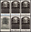 Autographs:Post Cards, Charlie Gehringer Signed Hall of Fame Plaque Postcard Collection (6)....