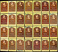 Autographs:Post Cards, George Kell Signed Hall of Fame Plaque Postcard Collection (43)....