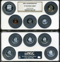 2002-S Silver Proof Set PR70 Ultra Cameo NGC. The State Quarters include: Tennessee, Ohio, Louisiana, Indiana, and Missi...