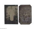 Antiques:Black Americana, Two Fascinating Sixth Plate Black Occupational Tintypes The firstdepicts four shoeshine boys, two of whom are black. Each ...