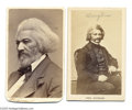 Photography:CDVs, Two Frederick Douglass Cartes de Visite Photos Frederick Douglass, 1817-1895, the great black American reformer who was born...