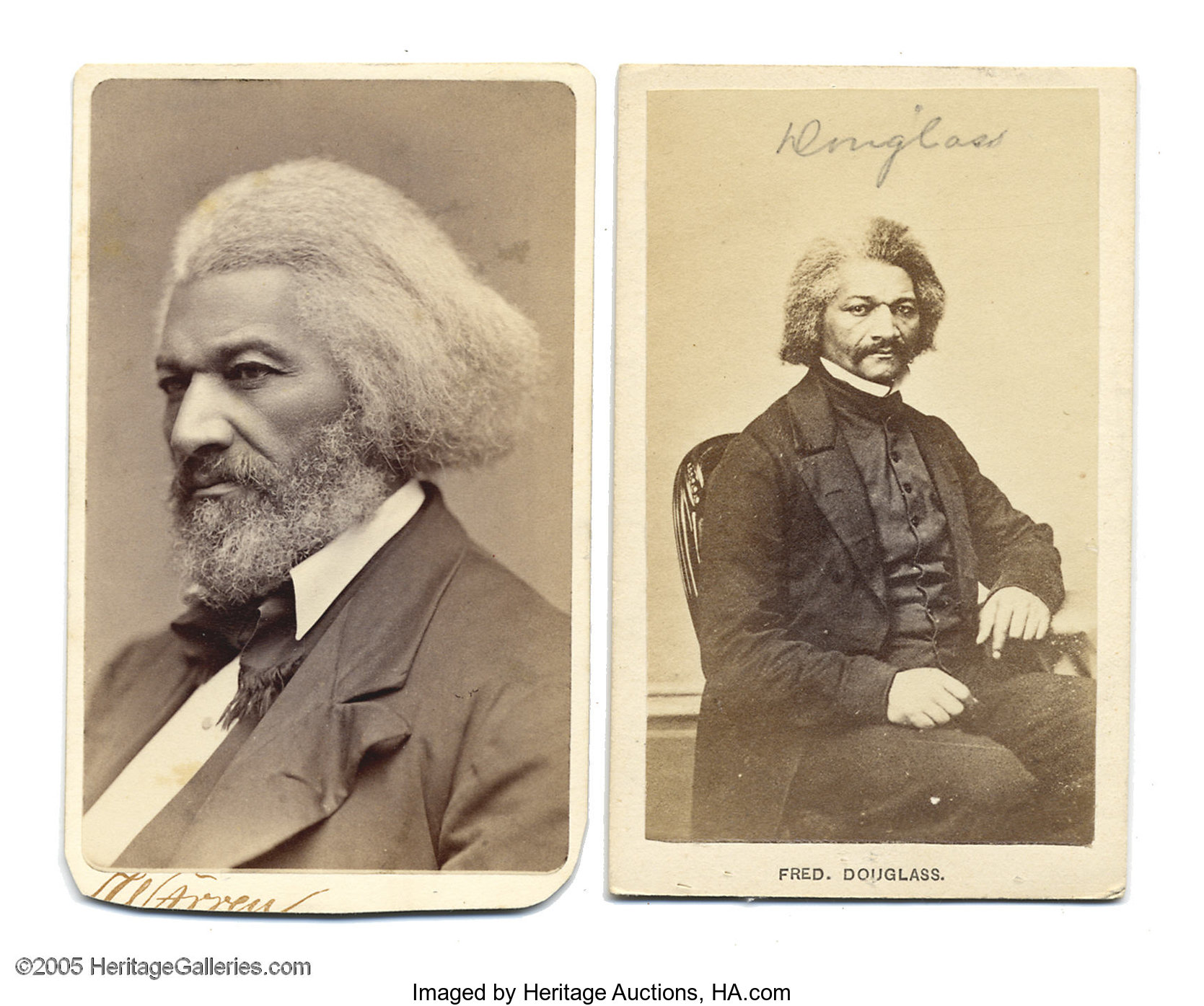 Carte American Black.Two Frederick Douglass Cartes De Visite Photos Frederick