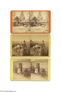Antiques:Black Americana, Three Fascinating Stereoviews of Blacks in Scenes by PhotographerJ. A. Palmer The first shows a black man, women and boy ou...