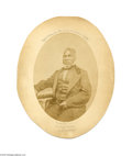 "Antiques:Black Americana, The Real Uncle Tom! A wonderful oval albumen portrait, 5.25"" x7.25"" of Reverend Josiah Henson, on an 8"" x 10"" board. Hens..."