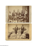 Antiques:Black Americana, Two Cabinet Card Portraits of Black Singing Groups, Including a Photo of the Jubilee Singers, One of the Better Singing Groups...