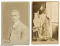 Antiques:Black Americana, Two Cabinet Cards: One Featuring the Black Author William Pickens and the Other of a Woman in a Universal Negro Improvement A...
