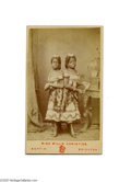 Antiques:Black Americana, A Wonderful CDV Featuring Millie and Christine, Famous BlackCo-joined Twins Who Toured with P. T. Barnum The carte-de-visit...