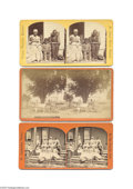 Antiques:Black Americana, Three Stereo Cards of Blacks in Florida The first depicts theresidents of the Colored Women's Home of St. Augustine sitting...