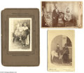 Antiques:Black Americana, Photographs of Blacks -- Sweet Children on Horses Two are cabinetcards, each featuring a well-dressed black man standing ne...