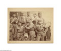 "Antiques:Black Americana, Photograph Depicting Sioux Indians (in Uniform) on the HamptonInstitute Baseball Team A great 8"" x 5 3/4"" photo on a 9"" x 7..."