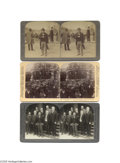 Antiques:Black Americana, Three Fine Stereoviews of Famous Black American Booker T.Washington Born a slave, Booker T. Washington attended schoolaft...