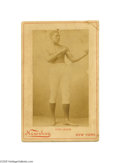 Antiques:Black Americana, Framed Cabinet Card by Newsboy of the Great Boxer Peter JacksonBorn in Jamaica, Peter Jackson was arguably the best boxer o...