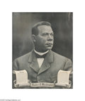 Antiques:Black Americana, Fine Poster of Booker T. Washington, Dating from His Acting CareerBooker T. Washington was a great pioneer in educating Afr...