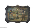 "Antiques:Black Americana, Black Americana Tin Sign ""The Temptation of St. Anthony"" This signwas used by ""Paul Jones & Co., Louisville, Ky."" as an adv..."