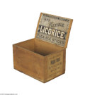 Antiques:Black Americana, Black Americana Store Display Box for Licorice Like many of theperiod pieces, such as Niggerhair tobacco or Black Maria che...
