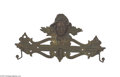 Antiques:Black Americana, Cast Iron Black Americana Detailed Face Hat Hanger Made of castiron, this hat rack is centered with the boyish face of a bl...