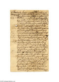 Political:Miscellaneous Political, Barbados Will Dividing Slaves Dated 1729 Last will and testament ofThomas Lovell, Christ Church Parish, Barbados, dated Apr...