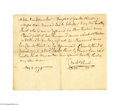 Antiques:Black Americana, 1778 Document -- Slave Traded for 300 Acres of Land An extremely rare handwritten document written and signed by Charles Hur...