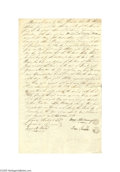 Antiques:Black Americana, 1811 General Anthony Wayne's Son Isaac Buys a Slave A slavemanumission, handwritten and dated December 10, 1811, Newcastle ...